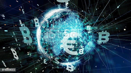 Financial technology concept. Technological abstract background.