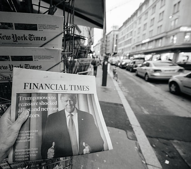 financial times about donald trump new usa president - trump stockfoto's en -beelden