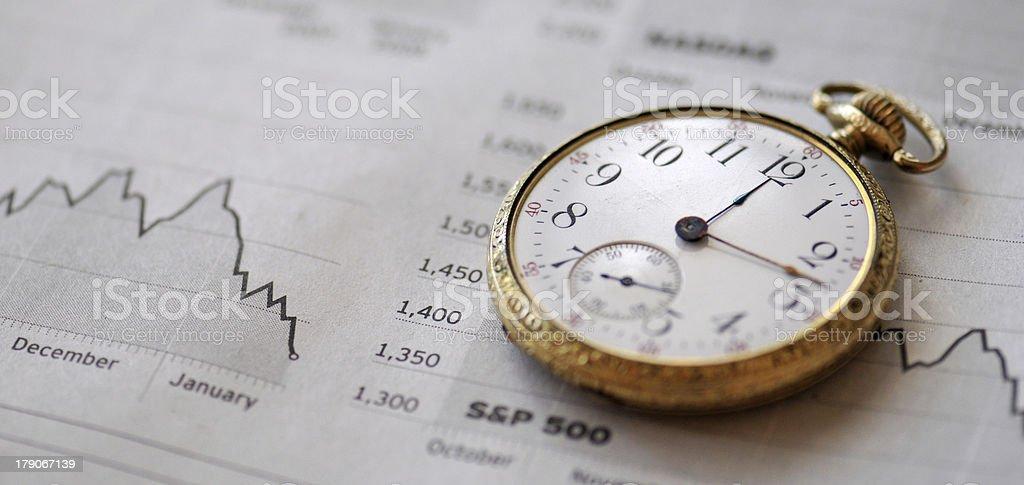 Financial Timing royalty-free stock photo