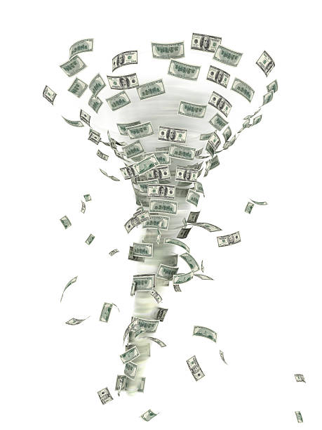 Financial tornado. stock photo