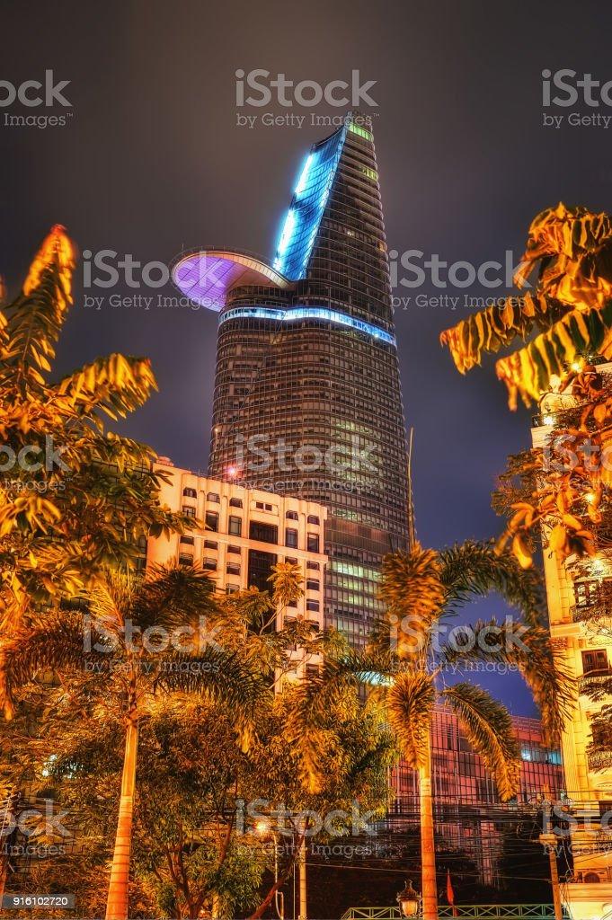 Financial Tower Ho Chi Minh Vietnam stock photo