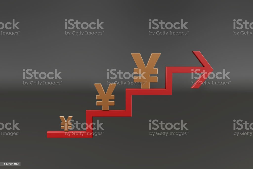 Financial wealth and success arrows stock photo