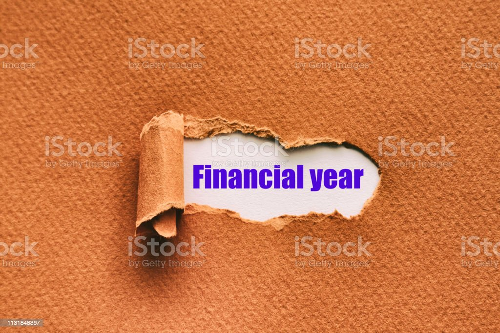 Finansal yıl stok fotoğrafı