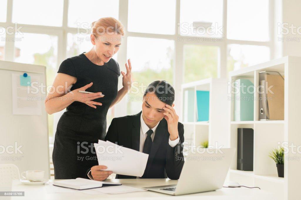 Financiers in office stock photo