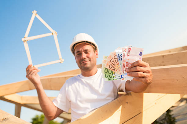 Financing  a new property in Euro stock photo