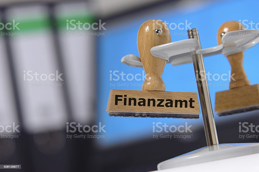 Finanzamt - in english: tax office stock photo