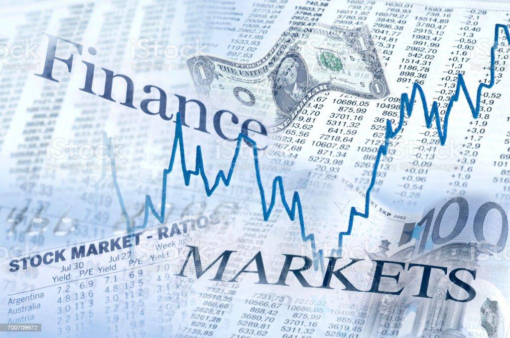 Finanzen und Märkte stock photo