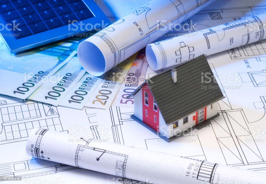 Finanzierung einer Immobilie stock photo