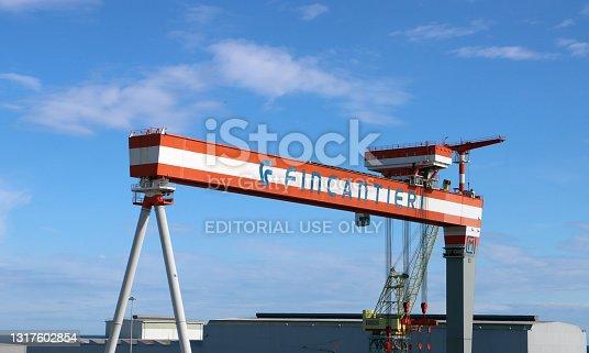 istock Fincantieri cranes at the port of Ancona (Italy) 1317602854