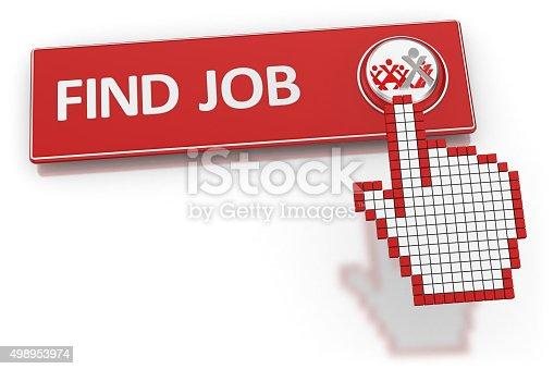 istock Find Job - Button 498953974