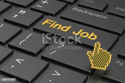istock Find Job - Enter Button 509757691
