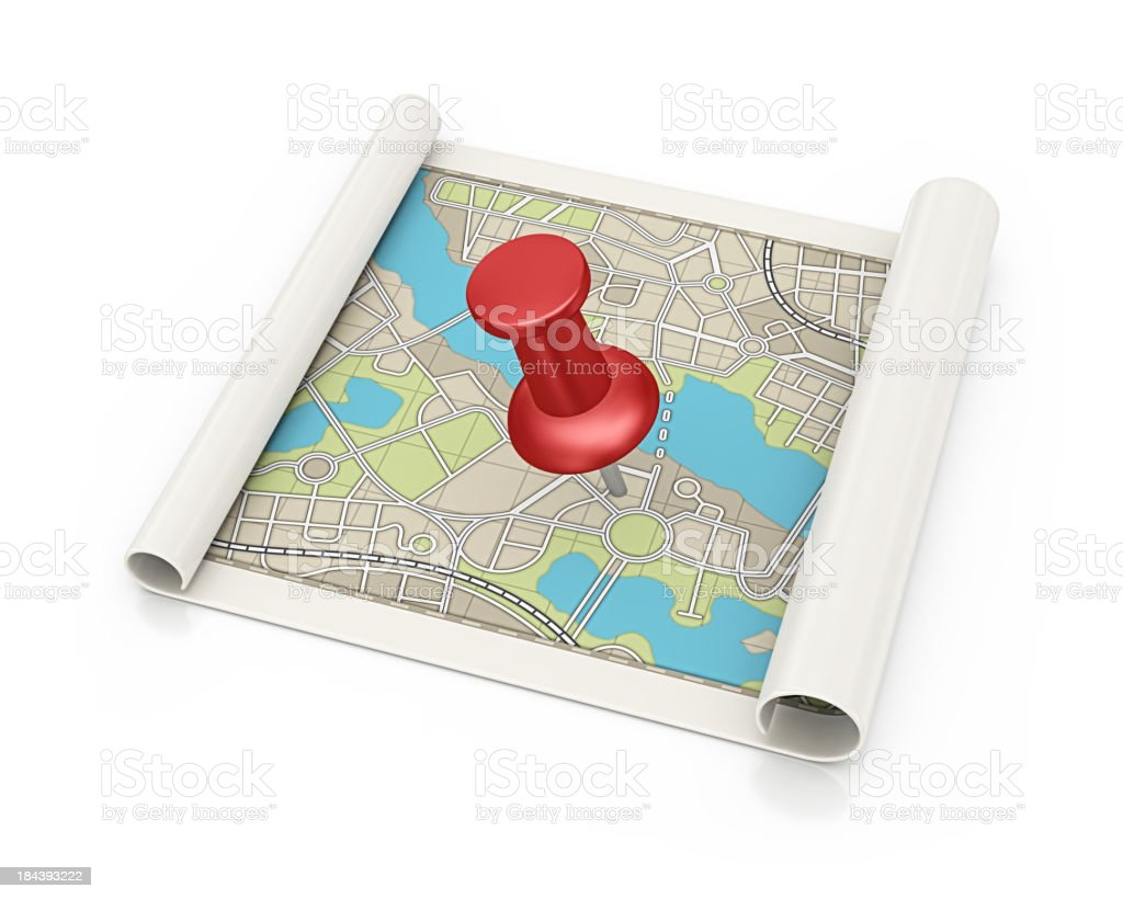 find location and thumbtack royalty-free stock photo