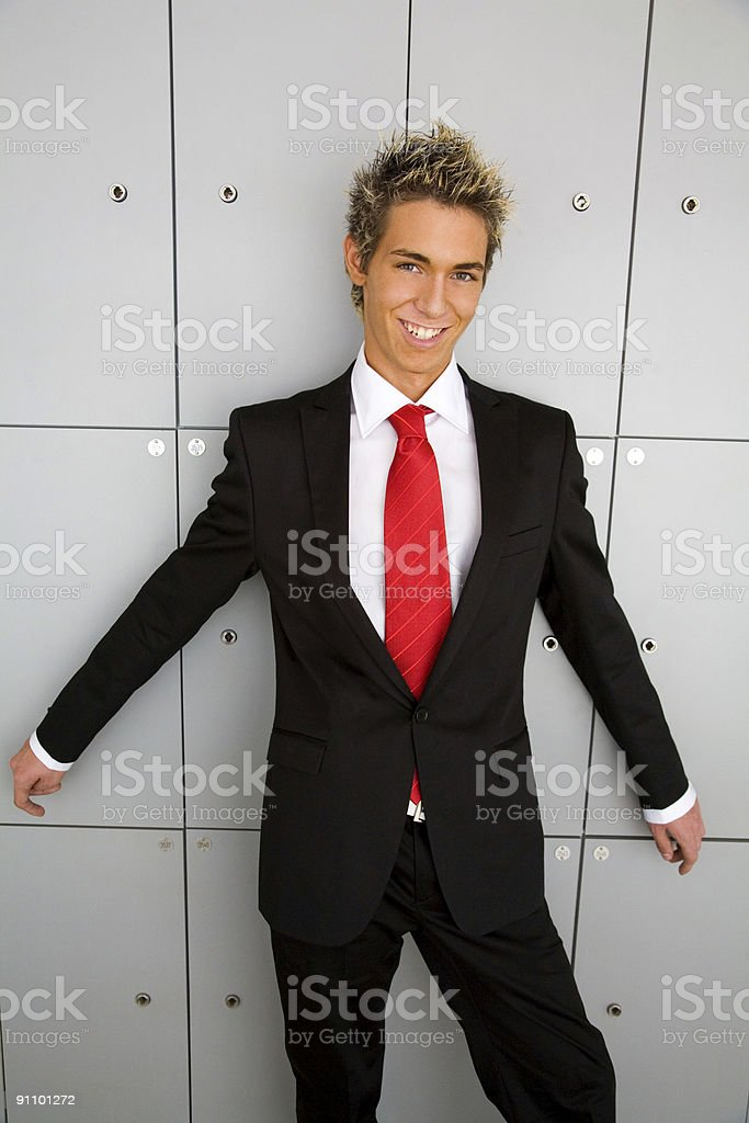 Find me in the lockers room. royalty-free stock photo