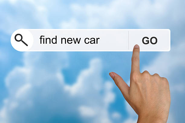 find new car on search toolbar stock photo