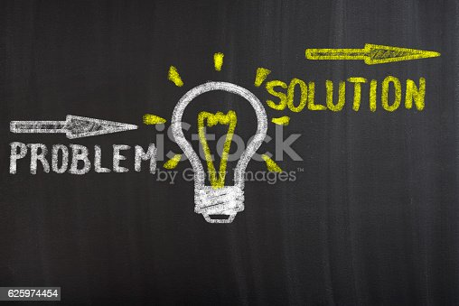 istock Find solution concept 625974454