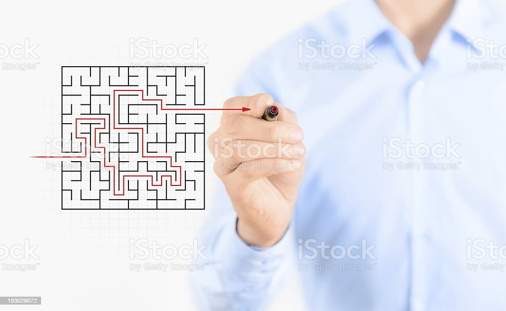Find solution royalty-free stock photo