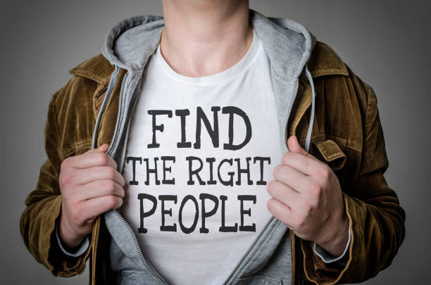 Find the right people stock photo