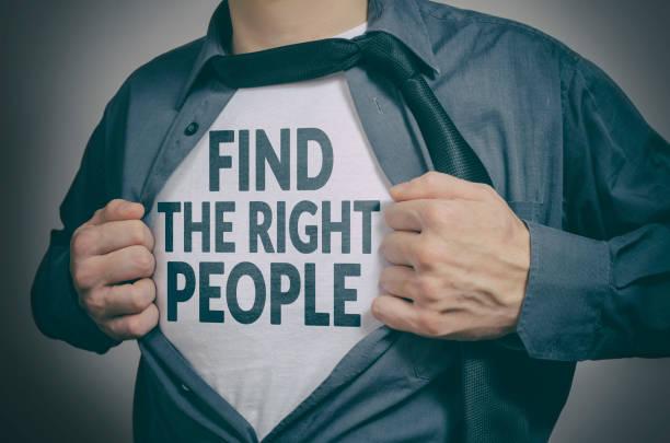 Finden Sie den richtigen Menschen – Foto