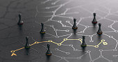istock Find The Shortest Path Between Points A And B. 1202205418