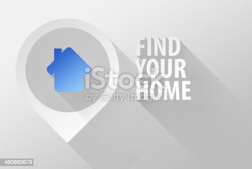 istock Find your home 3d illustration flat design 450660679
