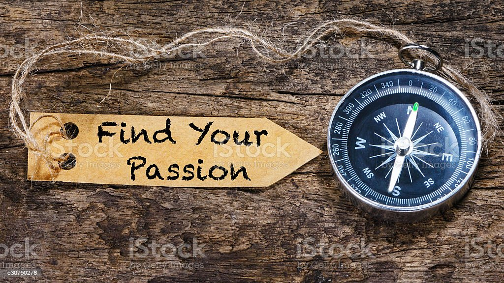 Find Your Passion Motivation Phrase Handwriting On Label