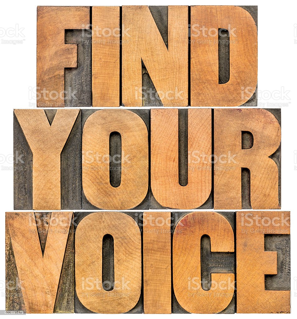 find your voice stock photo