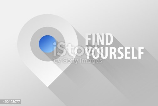 istock Find yourself map tag pin icon and widget 3d illustration 450423077