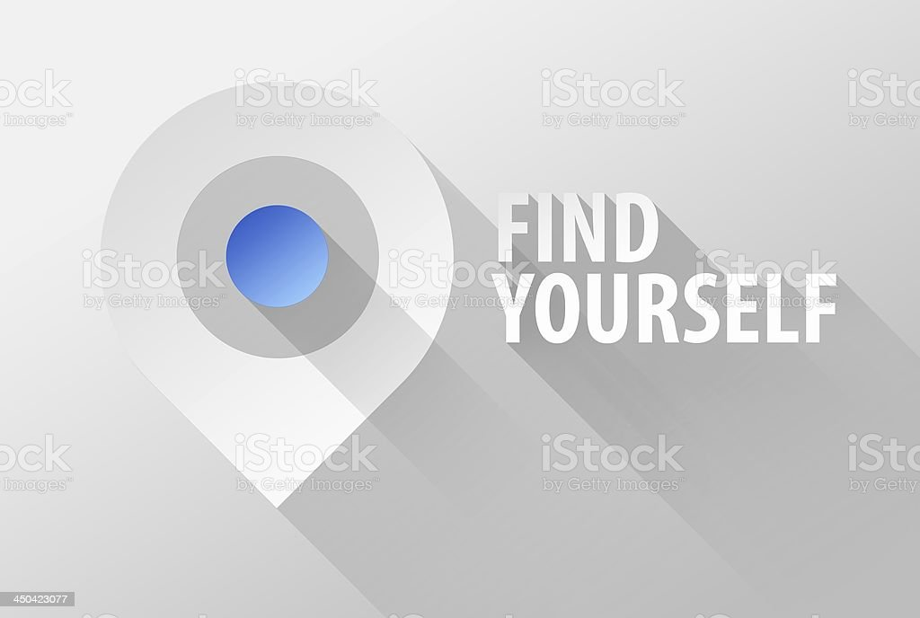 Find yourself map tag pin icon and widget 3d illustration stock photo