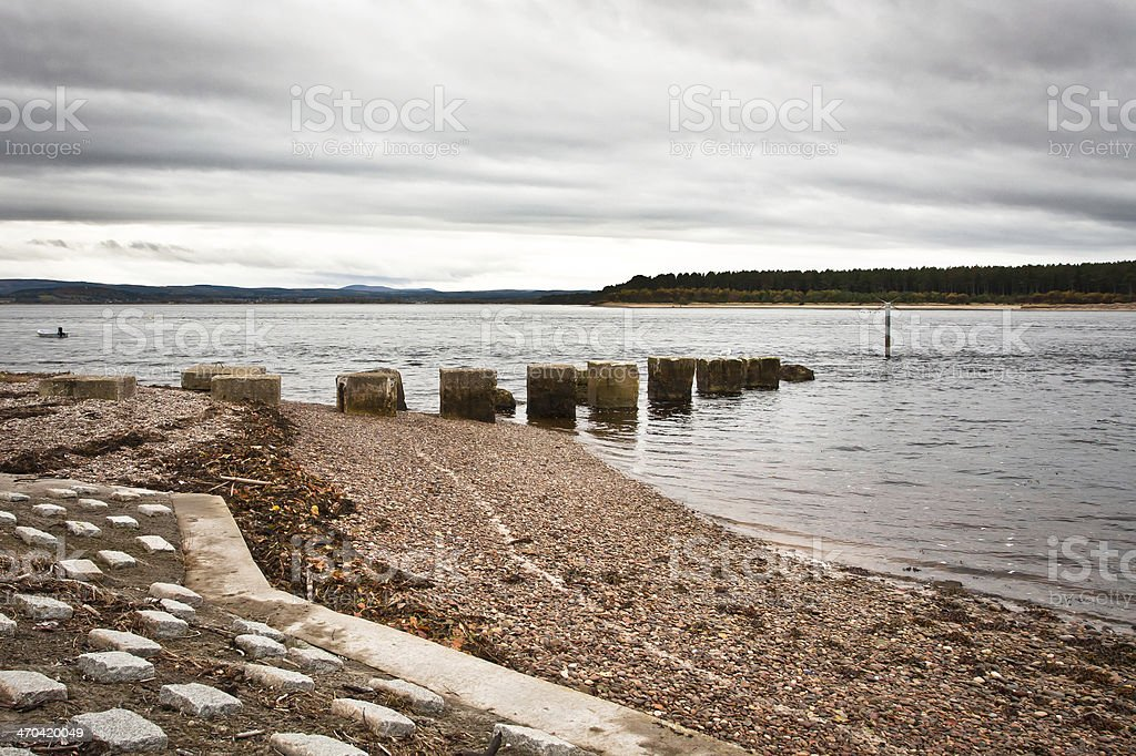 Findhorn Bay stock photo
