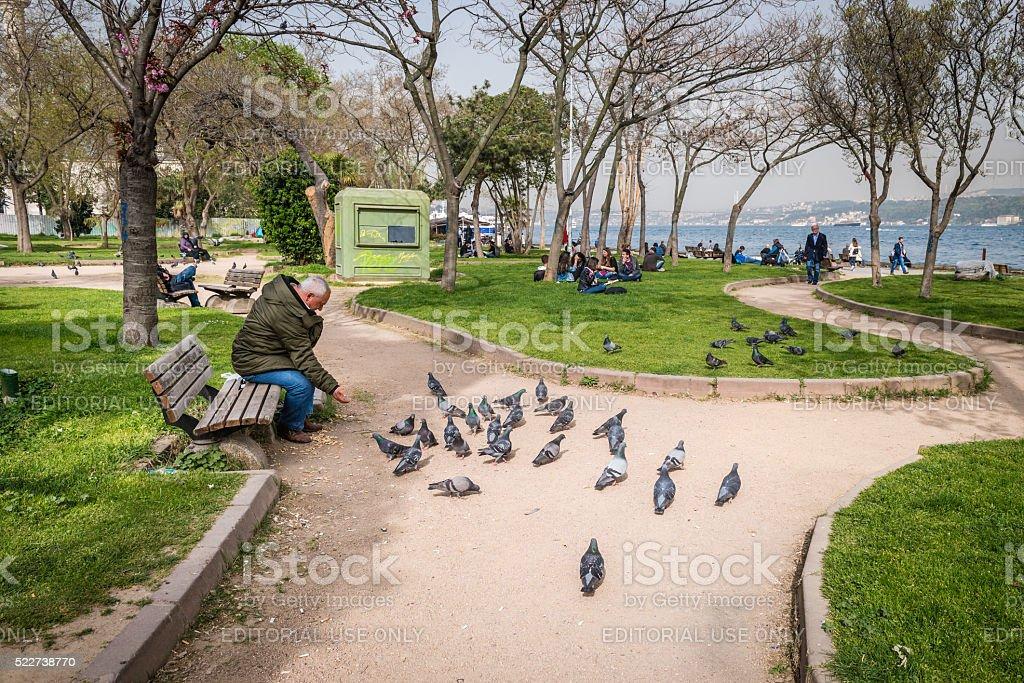 Findikli park in Istanbul, Turkey stock photo