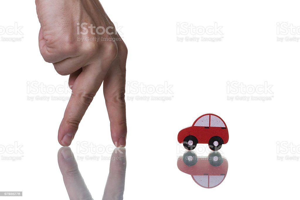 Finding a Car royalty-free stock photo