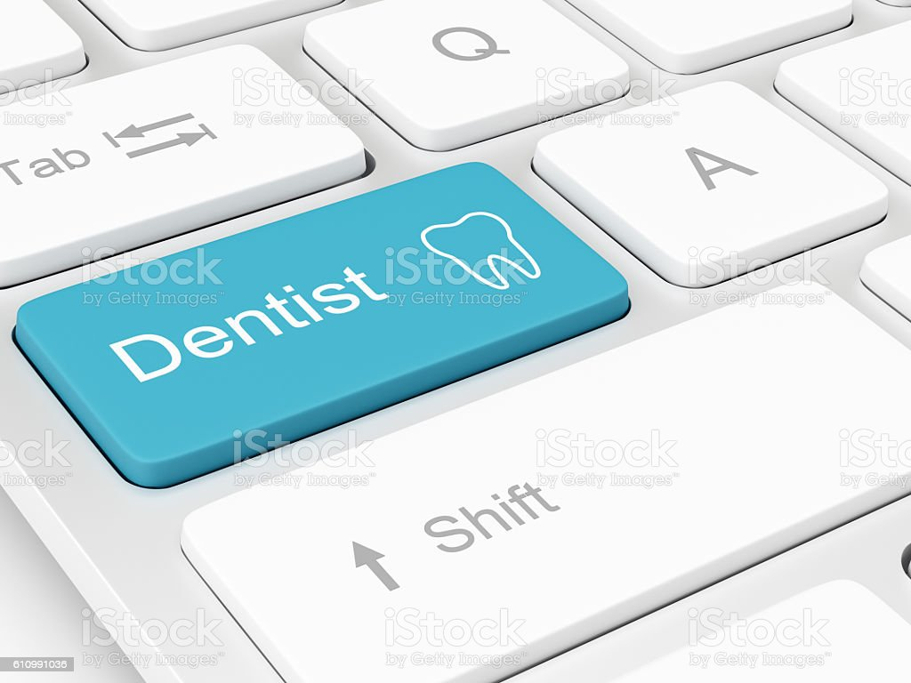 Finding a Dentist stock photo