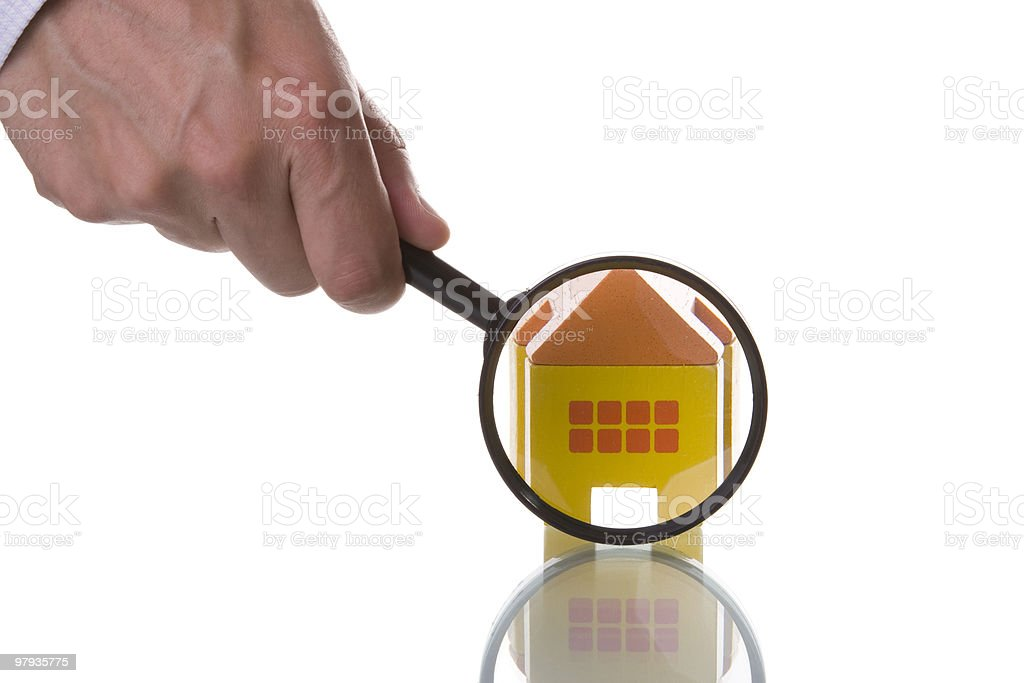 Finding a house royalty-free stock photo