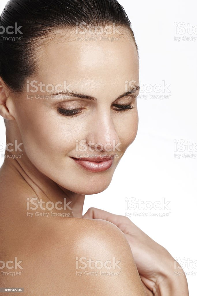 Finding a natural side of beauty royalty-free stock photo
