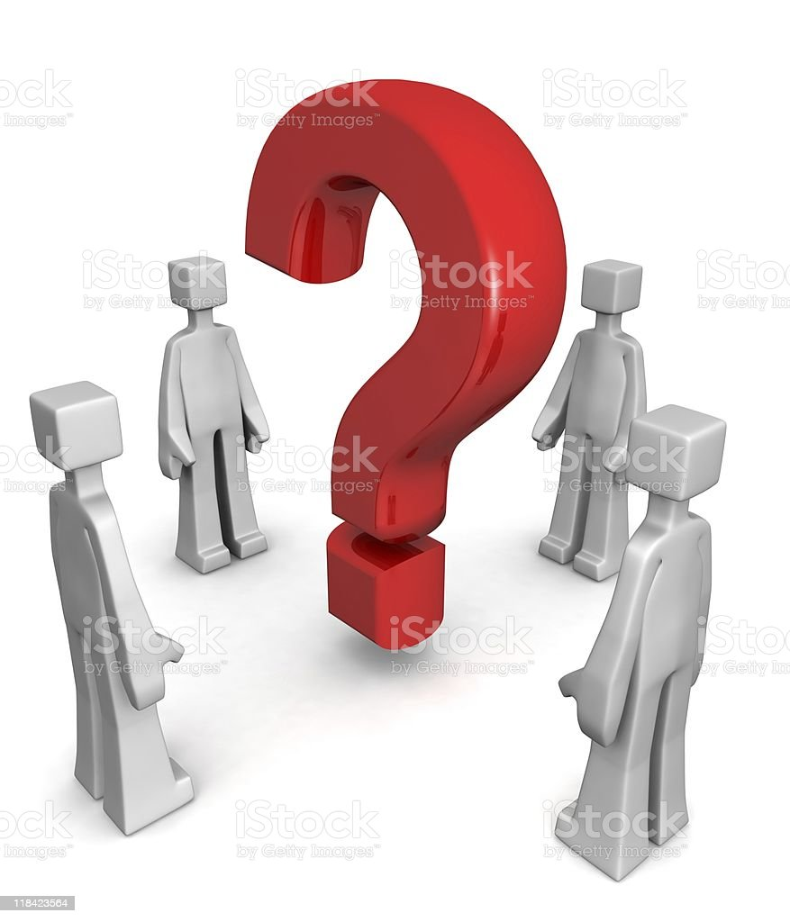 Finding answer or solving problem concept stock photo