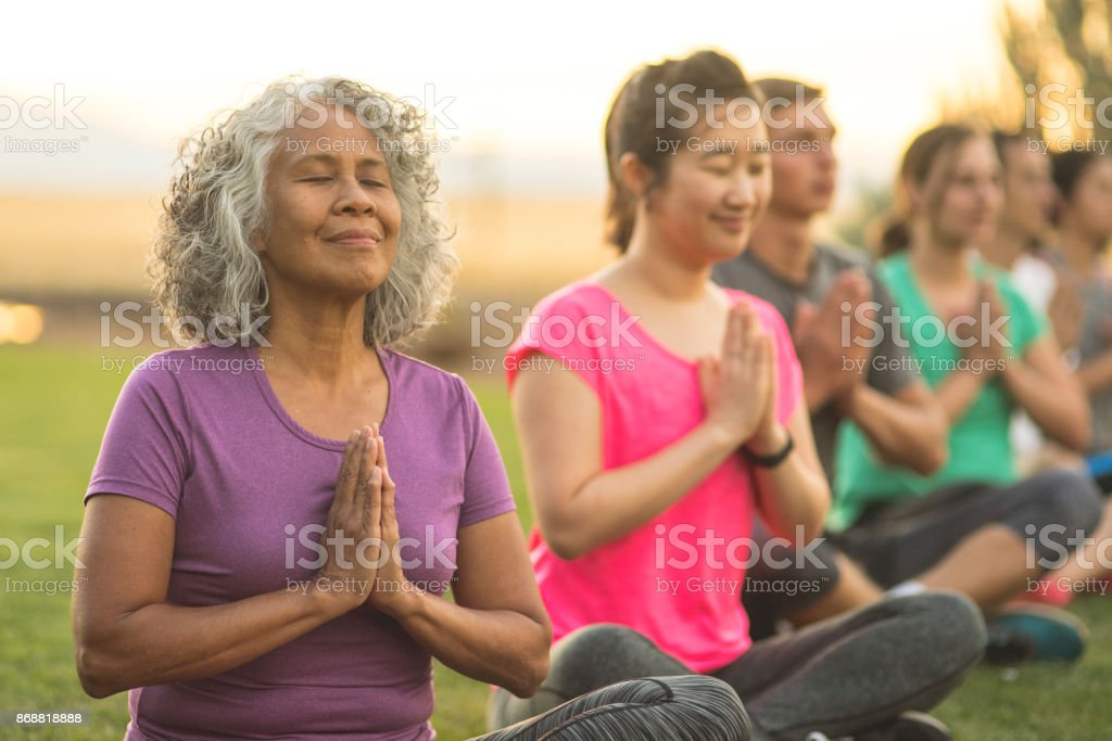 Finding balance in retirement stock photo