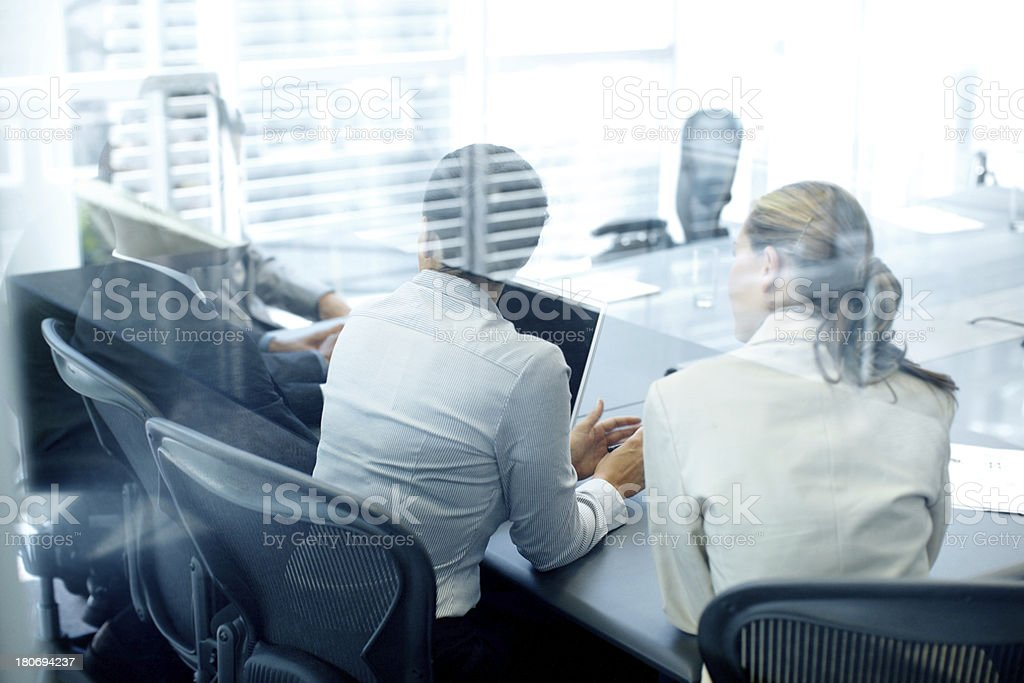 Finding clarity in effective teamwork royalty-free stock photo