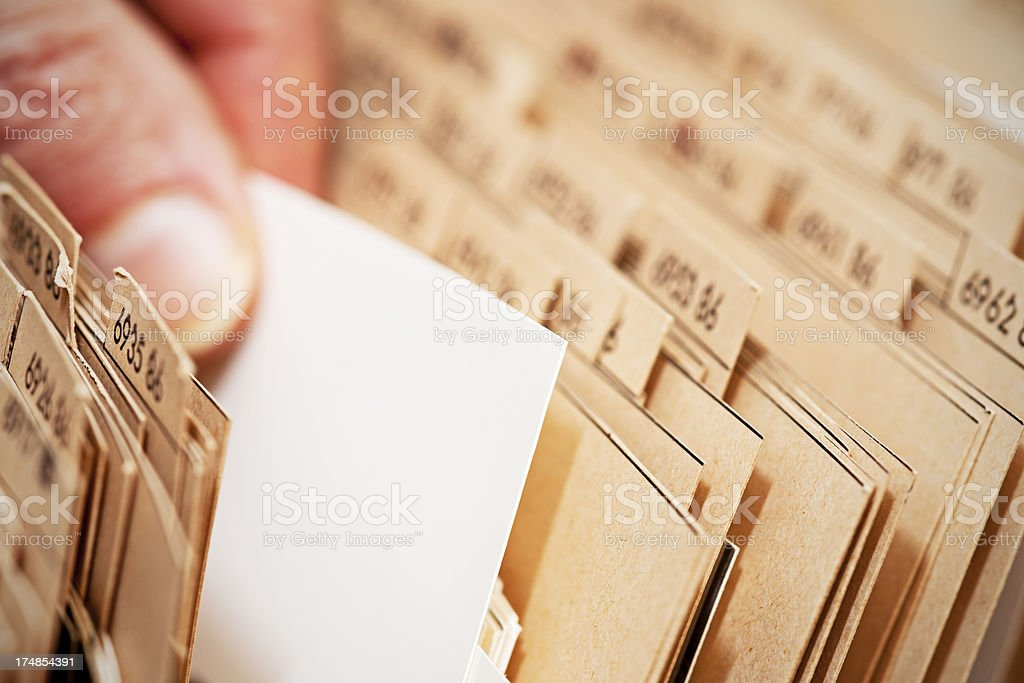 Finding documents in archive royalty-free stock photo