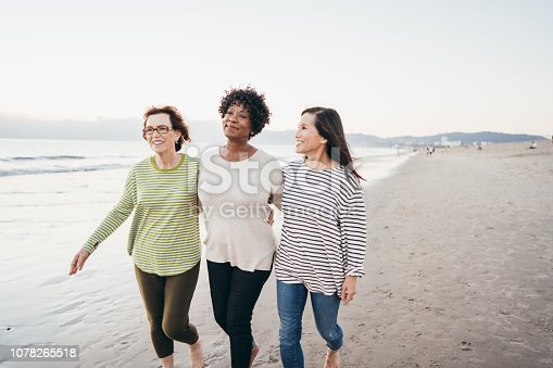 Seniors enjoying holidays on the beach