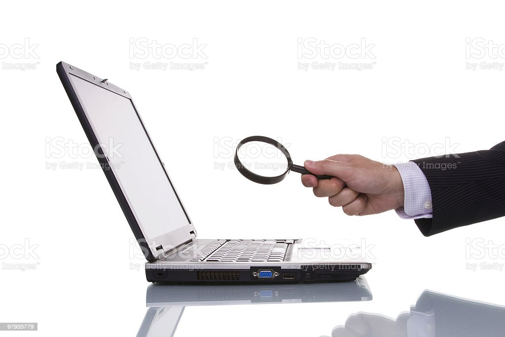 Finding information royalty-free stock photo