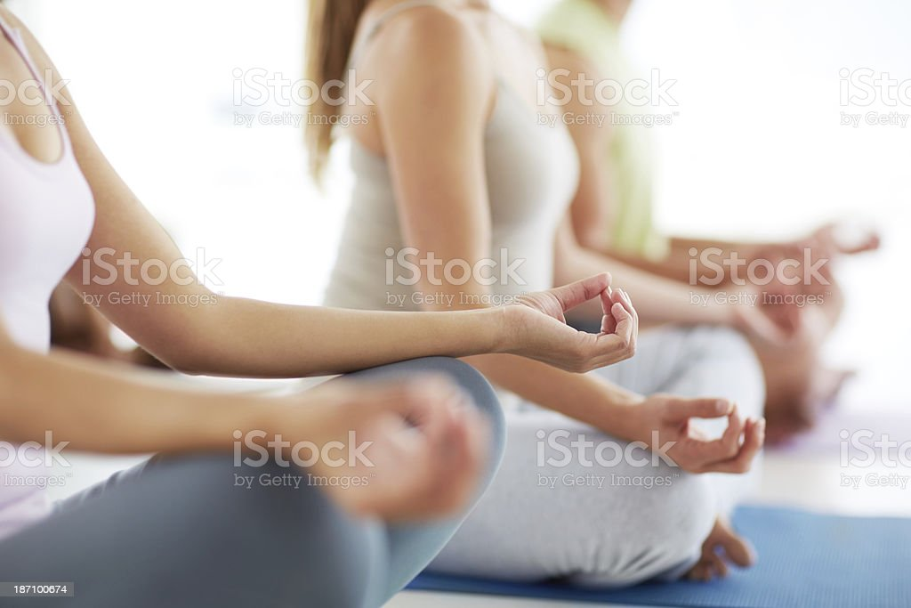 Finding inner calm and tranquility stock photo