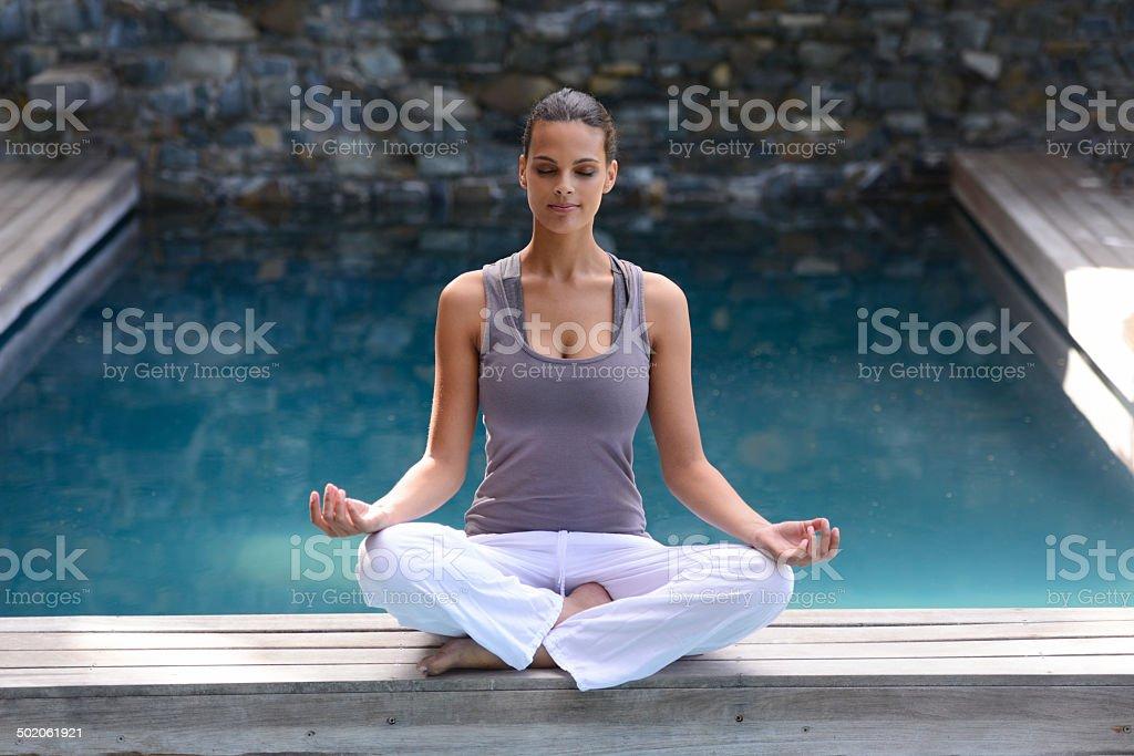 Finding inner calm stock photo