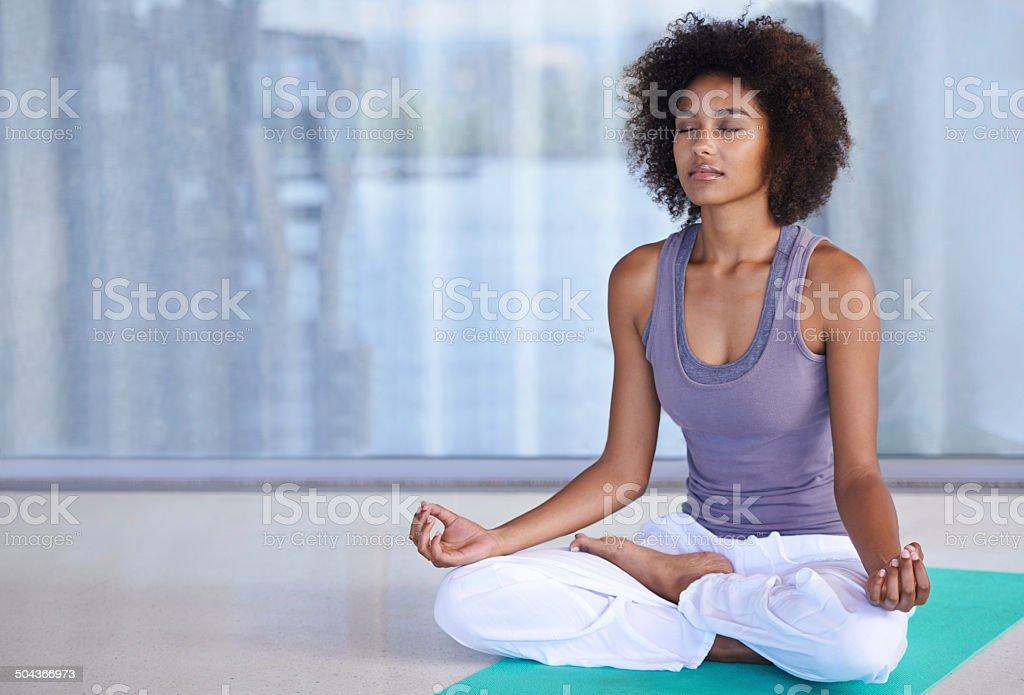 Finding inner peace stock photo