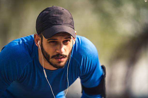 Finding inspiration through fitness stock photo