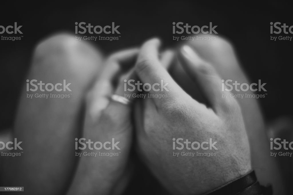 Finding love in dark places royalty-free stock photo