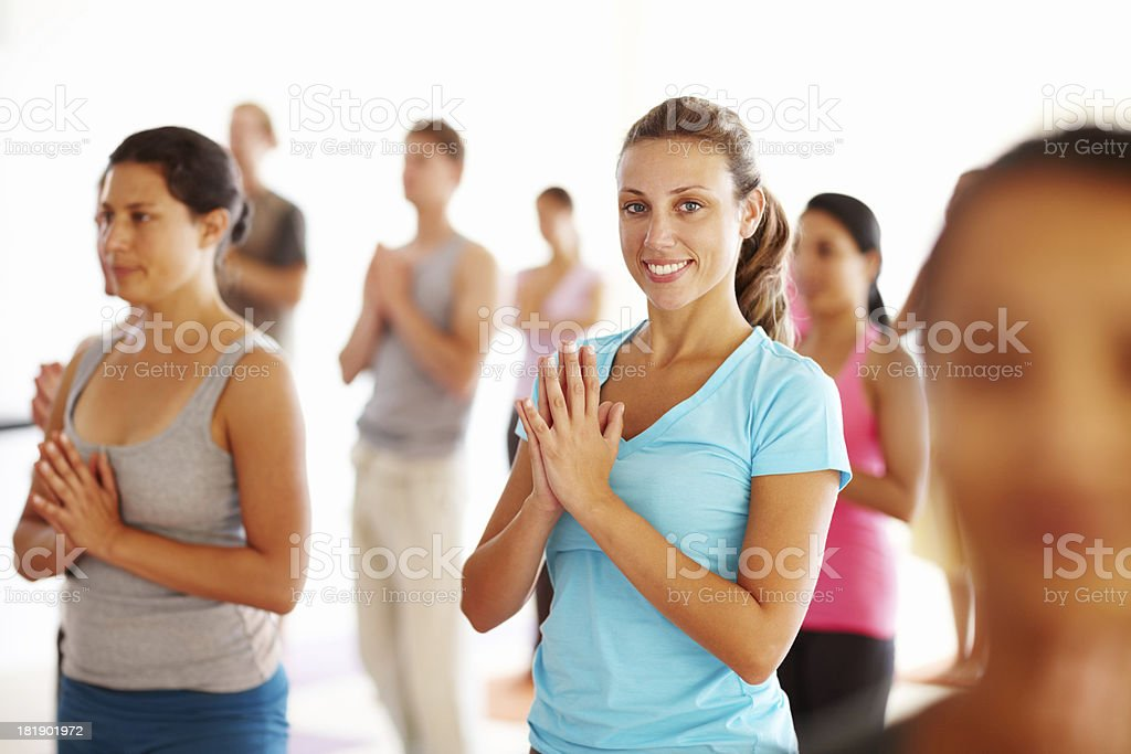Finding peace through fitness royalty-free stock photo