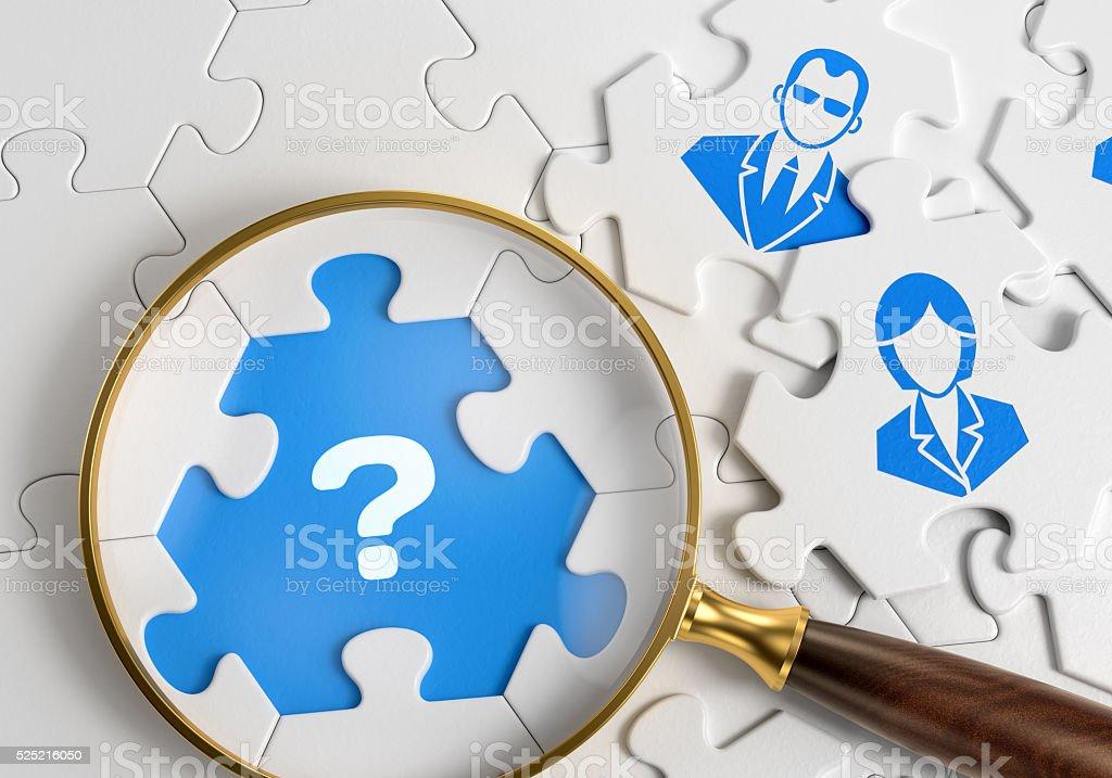 Encontrar personal calificado - foto de stock