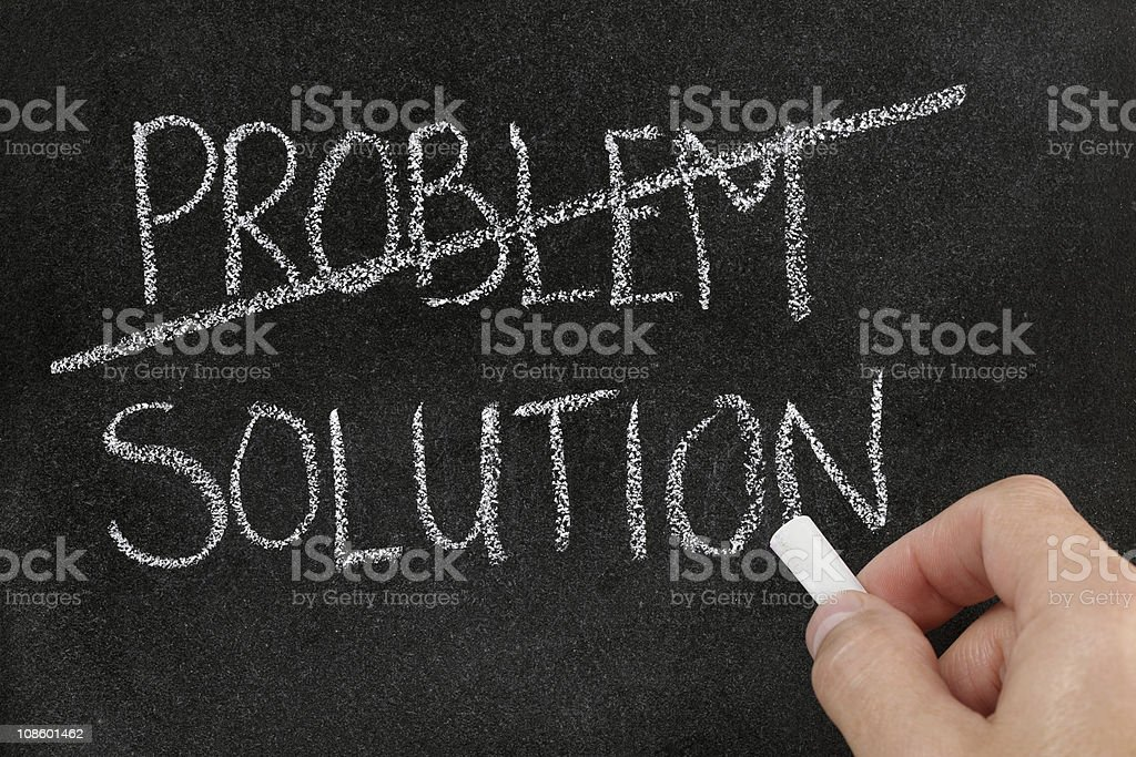 Finding solution for problem stock photo