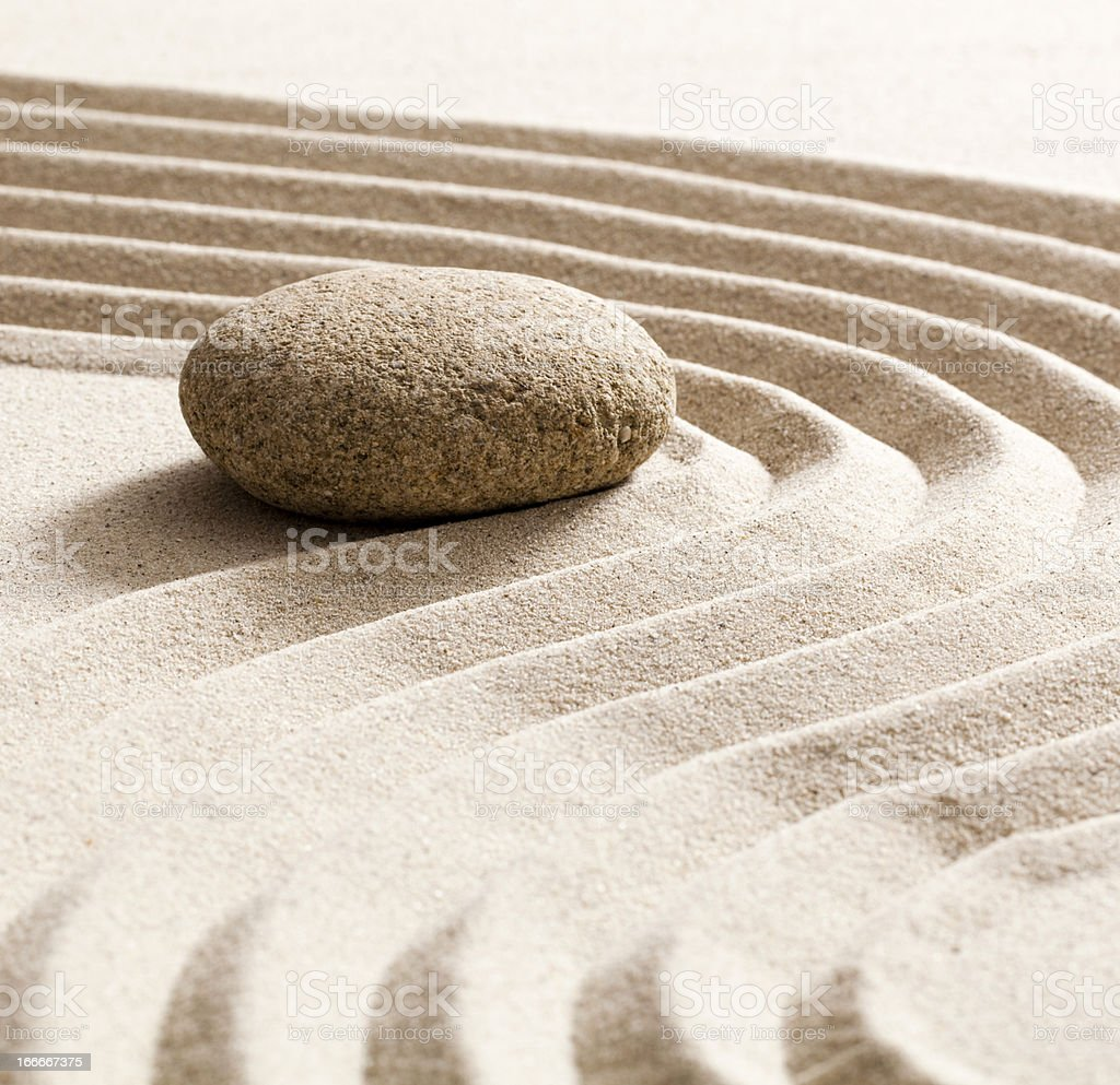 finding solution with zen attitude royalty-free stock photo