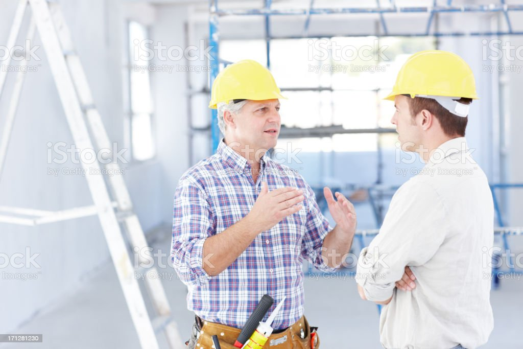 Finding solutions for your building needs royalty-free stock photo